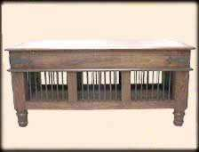 Shisham Wood Chest/Table with Iron Grills
