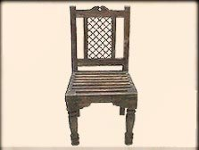 Shisham Wood Dining Chair with Iron Grills